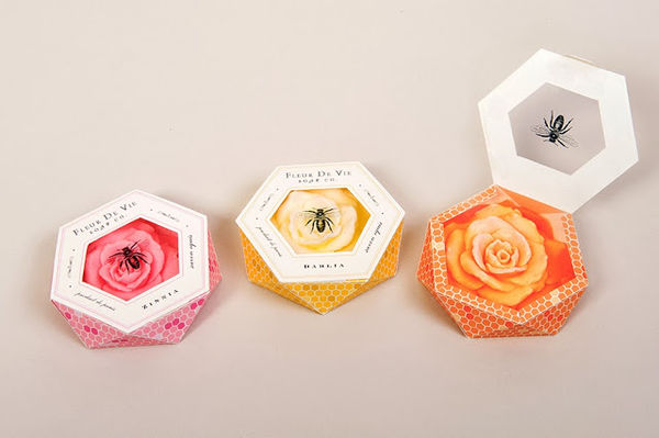 Fleur de Vie Soap Packaging