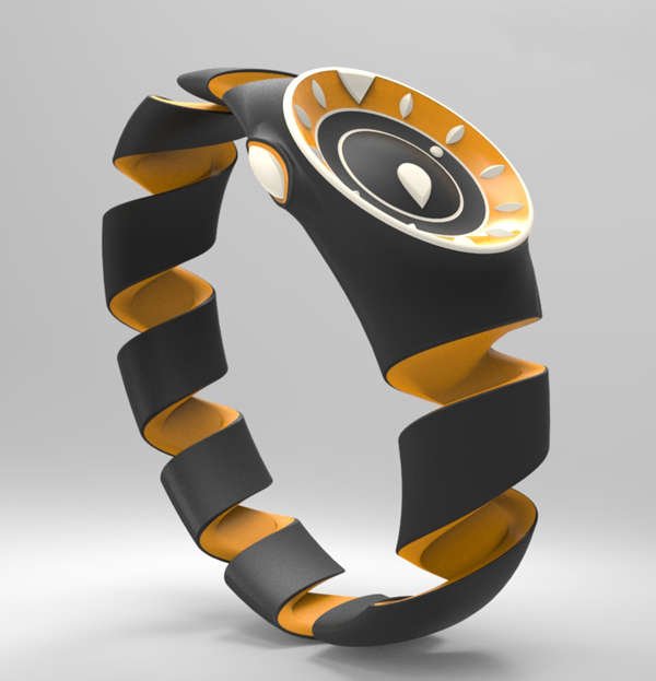 Coiled Clasp-Free Watches