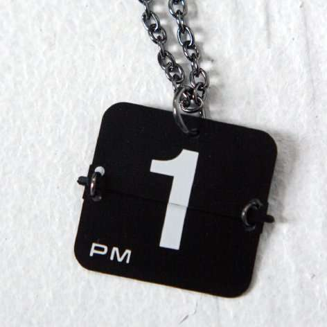 flip clock number necklaces