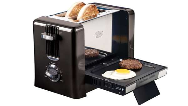 Flip-Down Breakfast Toaster