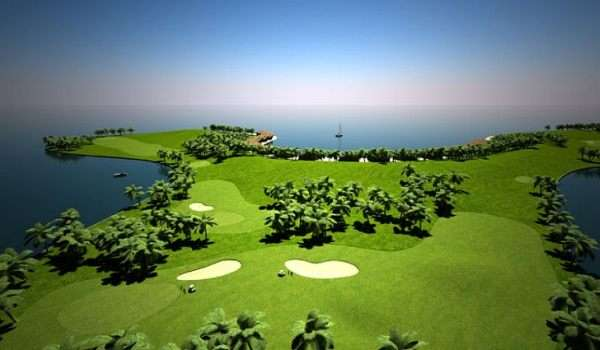 floating golf course