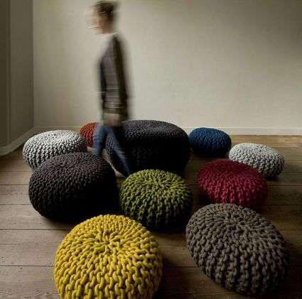 Oversized Wool Seating