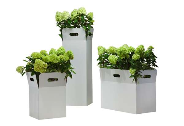 Cardboard Crate Planters