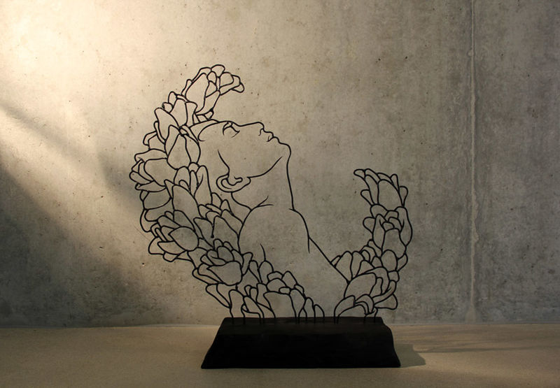 Flowery Wire Art