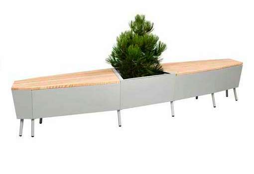 Poised Planter Benches