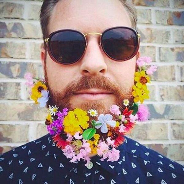 Flower-Adorned Beards
