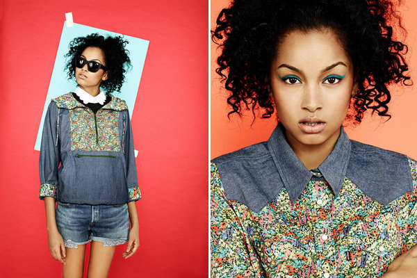 Vibrant Floral Denim Collections