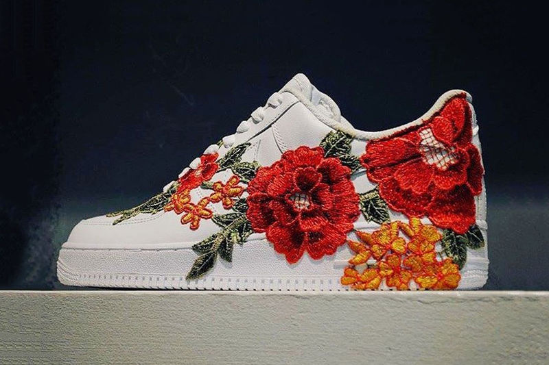 Elegantly Embroidered Sneakers