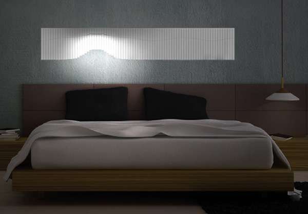 flowing headboard illuminators flowall lights. Black Bedroom Furniture Sets. Home Design Ideas