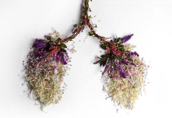 Organ-Shaped Flower Arrangements