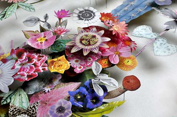 Recycled Floral Sculptures