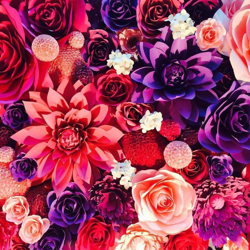 Paper Flower Murals