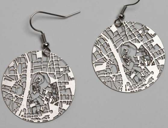 Location-Mapping Earrings