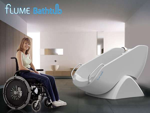 Wheelchair Accessible Showers Flume Bathtub