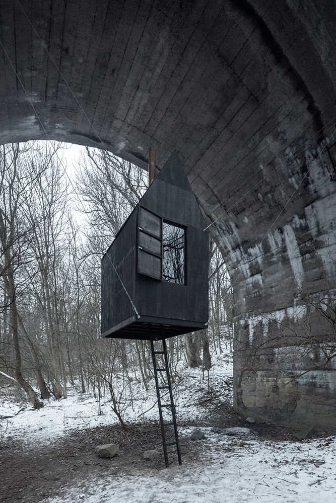 Suspended Mini Homes