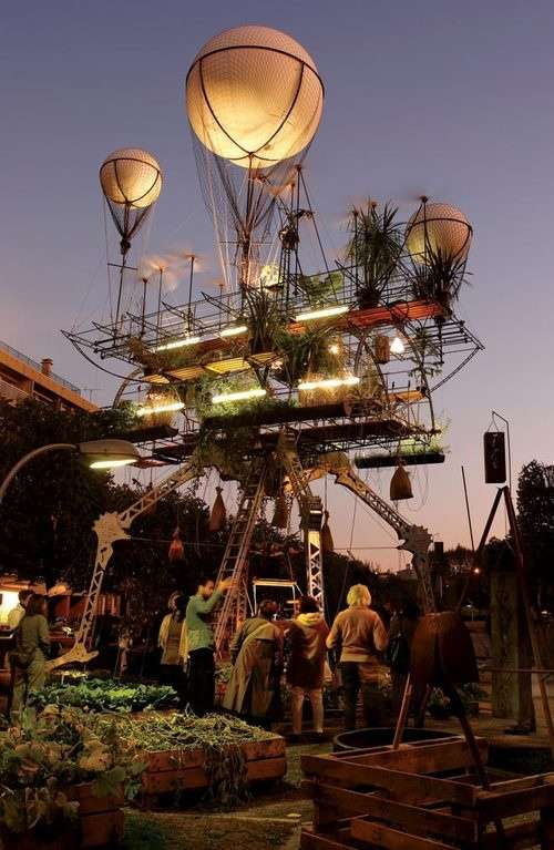Sky-Bound Steampunk Greeneries
