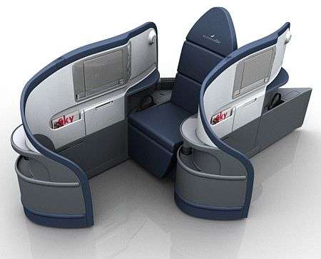 Fully Reclined Airplane Bed
