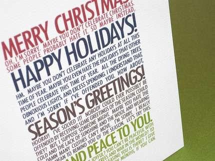 Snarky Holiday Sentiments