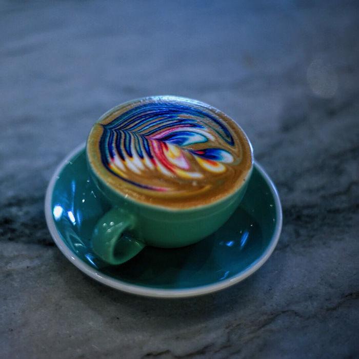 Technicolor Latte Art