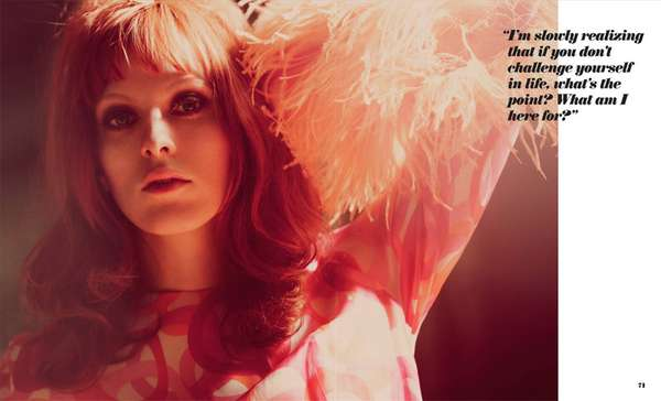 Foam Magazine July 2010 Karen Elson