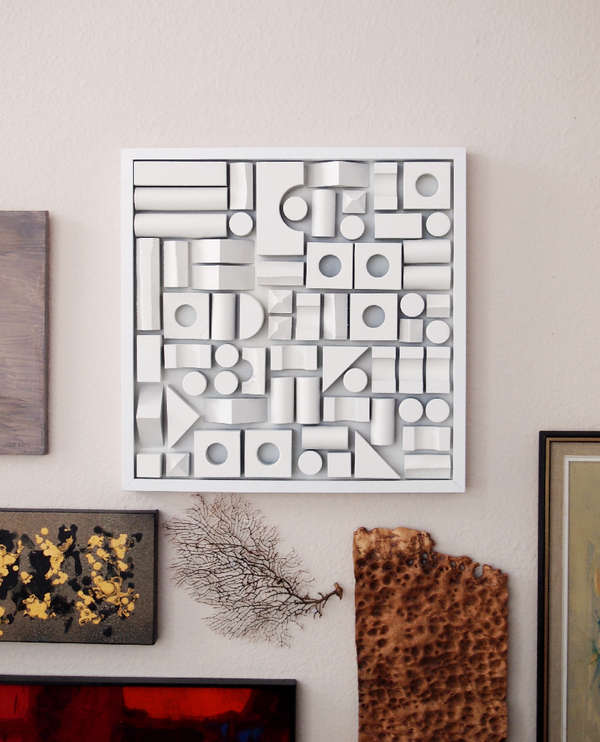 Diy foam fitting wall decor foam wall art - Wall decor diy ...