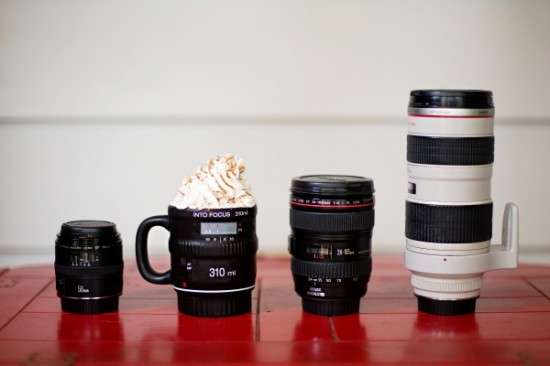 Focusing Photo Lens Mugs