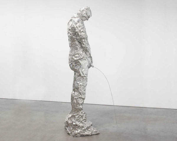Ludicrous Urinating Foil Sculptures