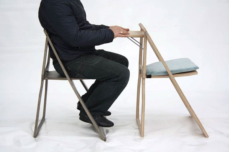 Wooden Flat Packed Chairs Fold Up Chair