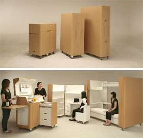 Furniture For Tiny Houses Interiors : ... Home Interiors: Small Living Spaces Call for Foldable Furniture