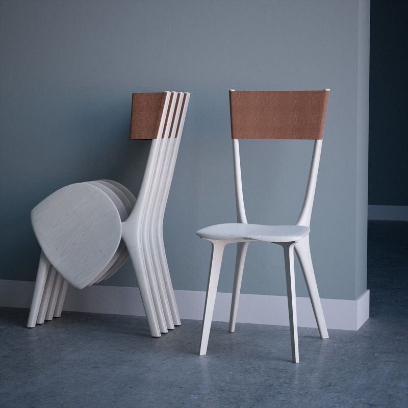 Vertically Folding Chairs