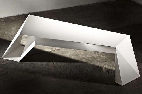 Futuristic Faceted Furniture Foldone Table