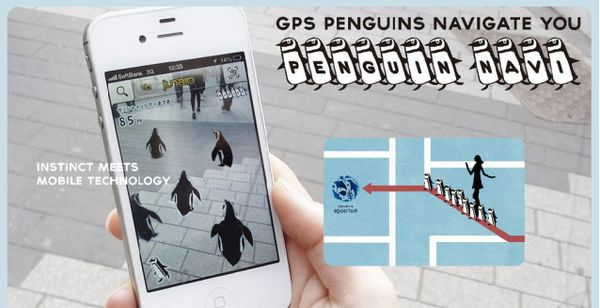 Penguin-Guided Navigation Apps