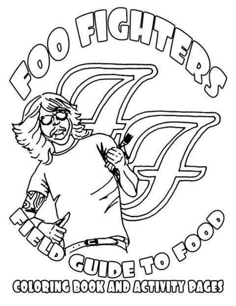 Foo Fighters coloring book