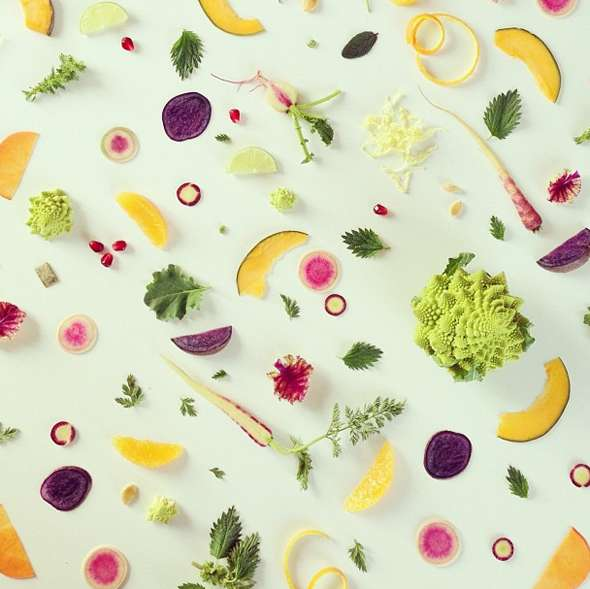 Vivid Produce Collages : food collages