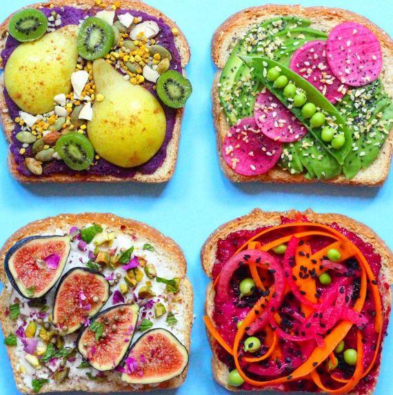 Multicolored Toast Art