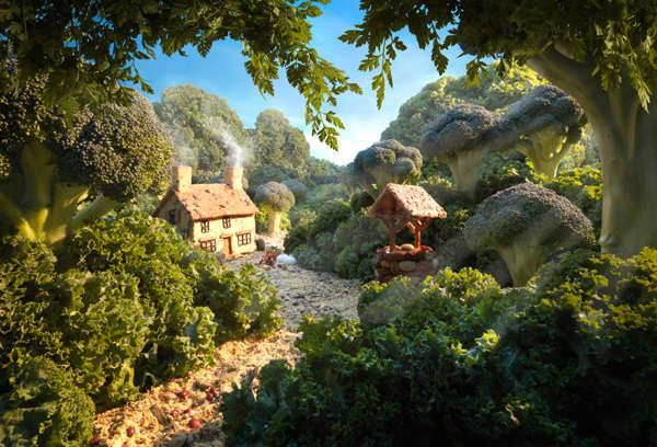 Realistic Food-Formed Landscapes