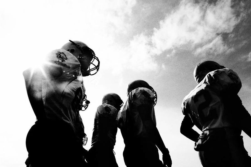 Grayscale Football Photography