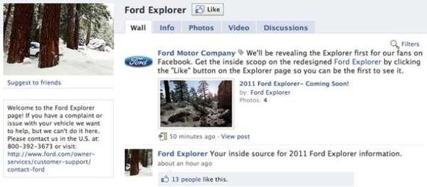 Automaker Facebook Reveals