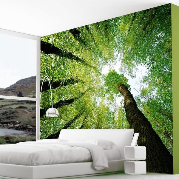 Enchanted forest wall murals forest dreams wall mural for Enchanted forest mural wallpaper