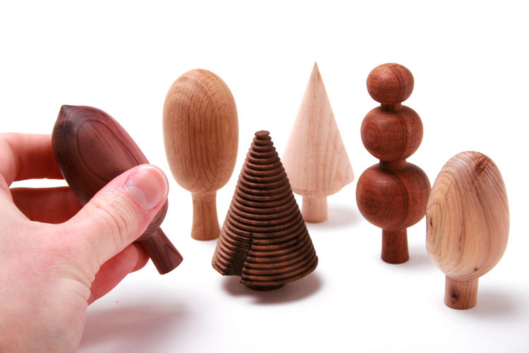Wooden Tree-Shaped Ornaments