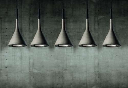 Poured Concrete Pendant Lamps