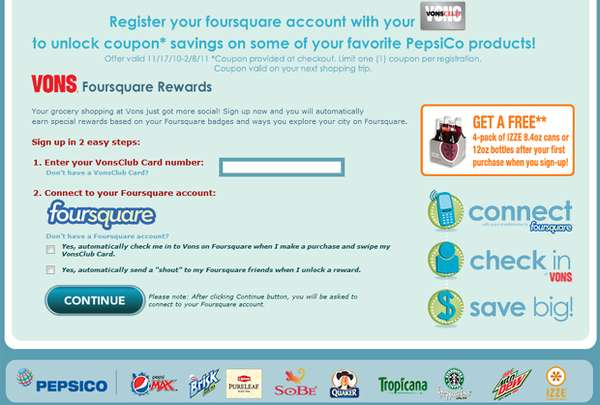 Foursquare rewards