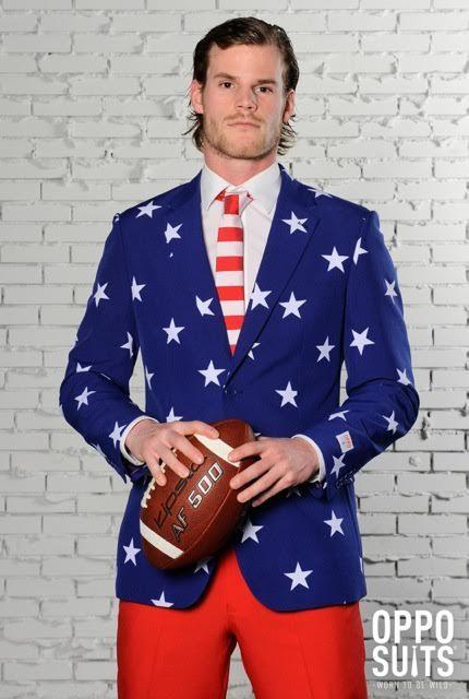 Patterned Patriotic Suits