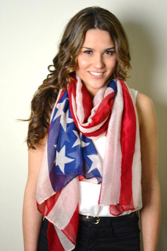 Patriotic Silky Scarves