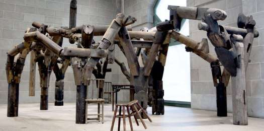 Salvaged Temple Wood Installations