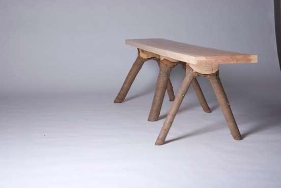 bark covered furniture bark furniture