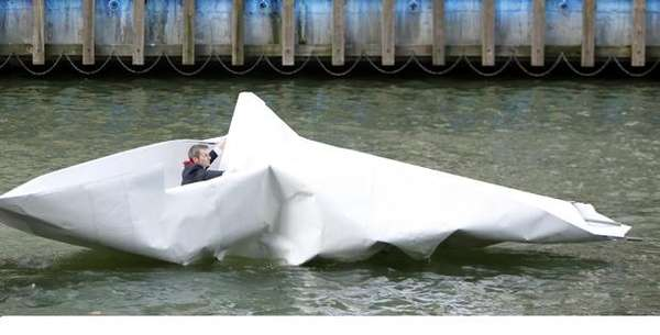 Giant Paper Boats