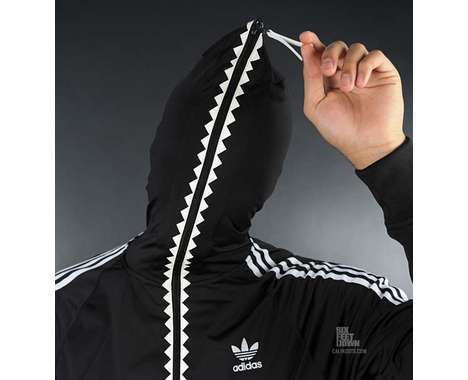 Full Zip Hoodie Over Face Baggage Clothing