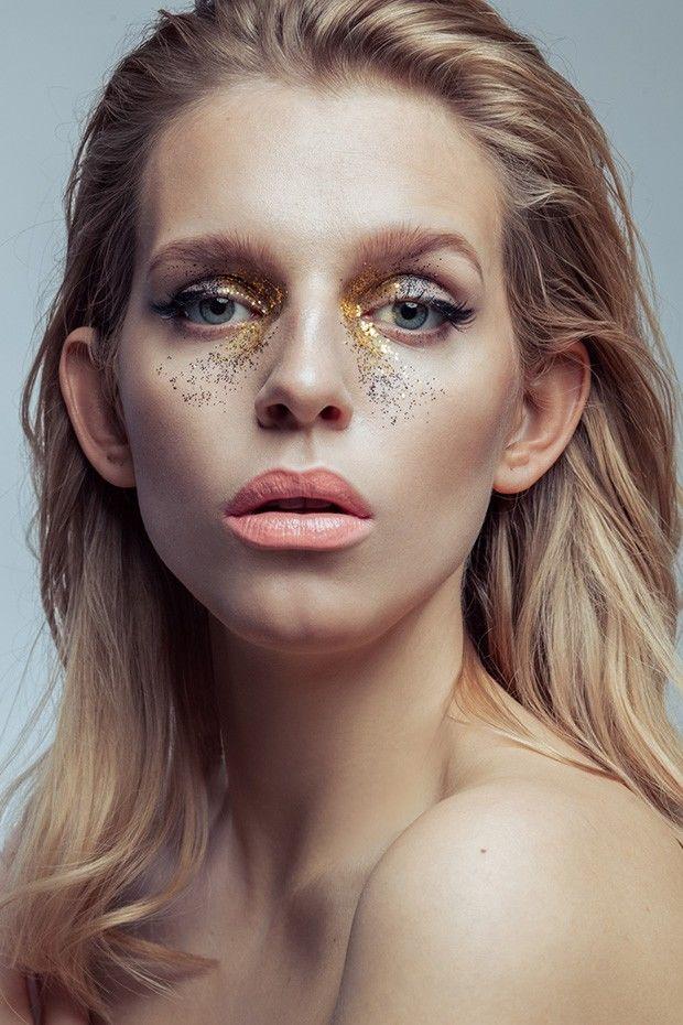 Shimmering Freckle Makeup