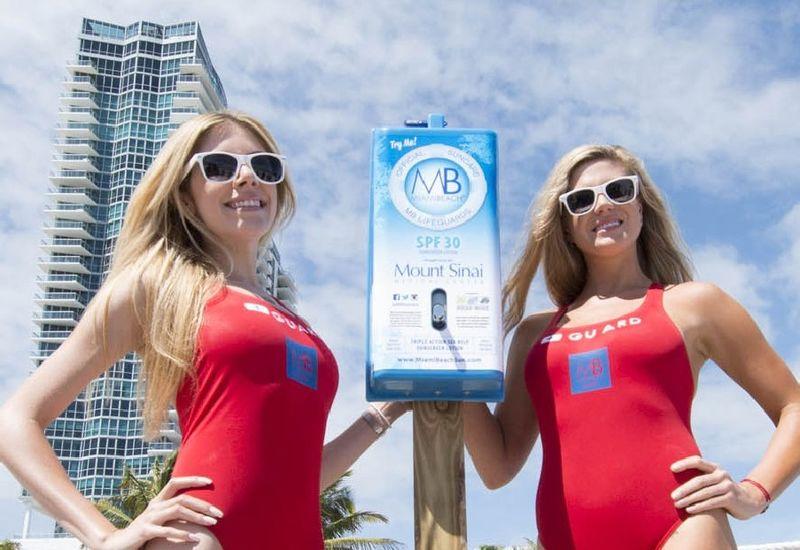 Sponsored Sunscreen Dispensers